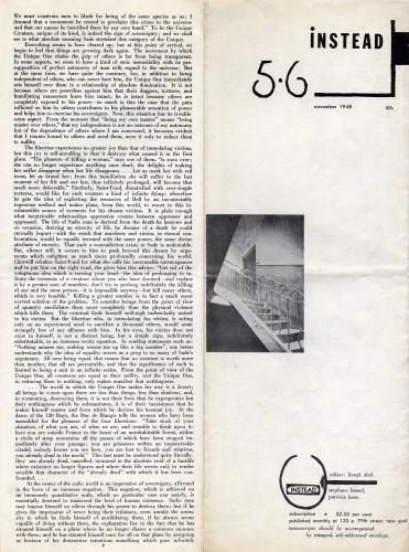 Instead, no. 5-6 (November 1948).