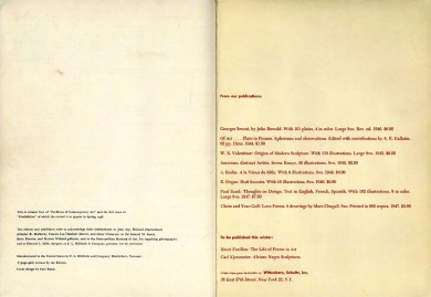 Colophon: first and last issue.